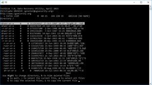Récupération avec Test Disk